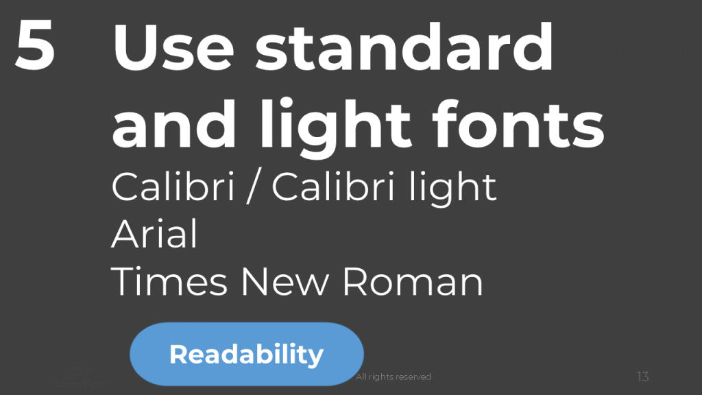Use Standard Fonts in Your Resume